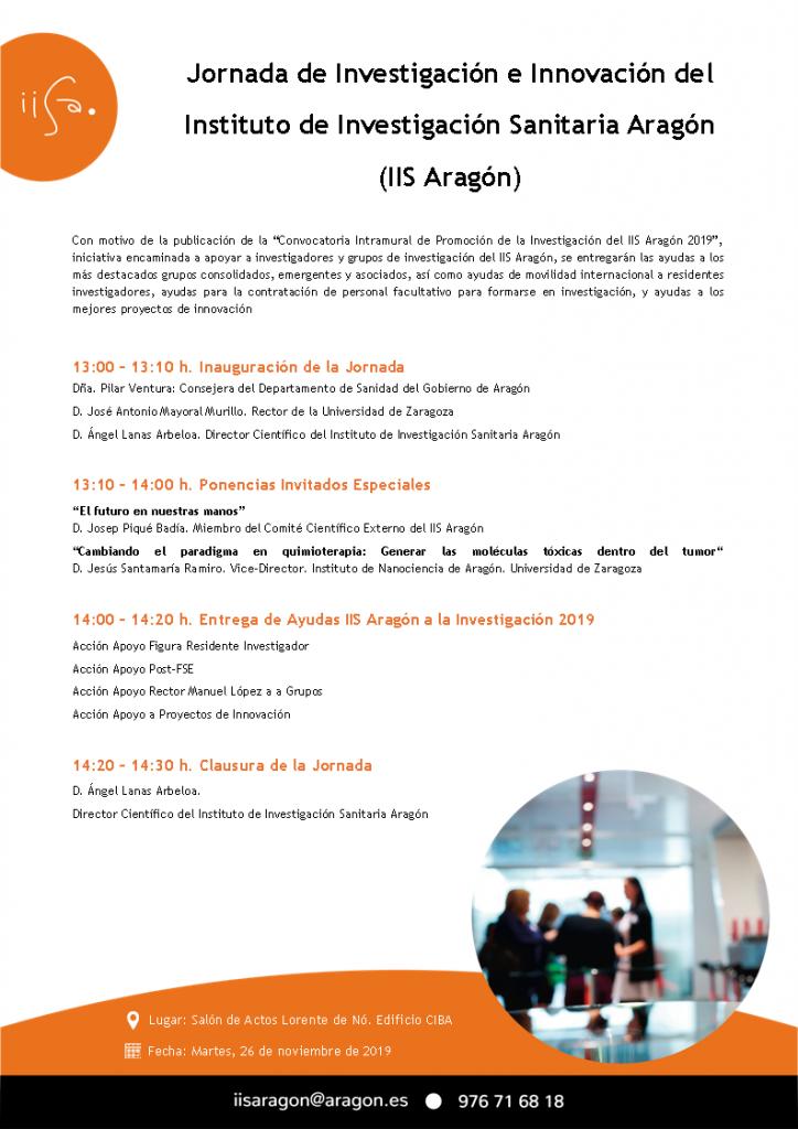 Jornada de Investigación e Innovación del Instituto de Investigación Sanitaria Aragón (IIS Aragón)
