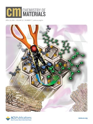 Nueva portada en la revista científica Chemistry of Materials
