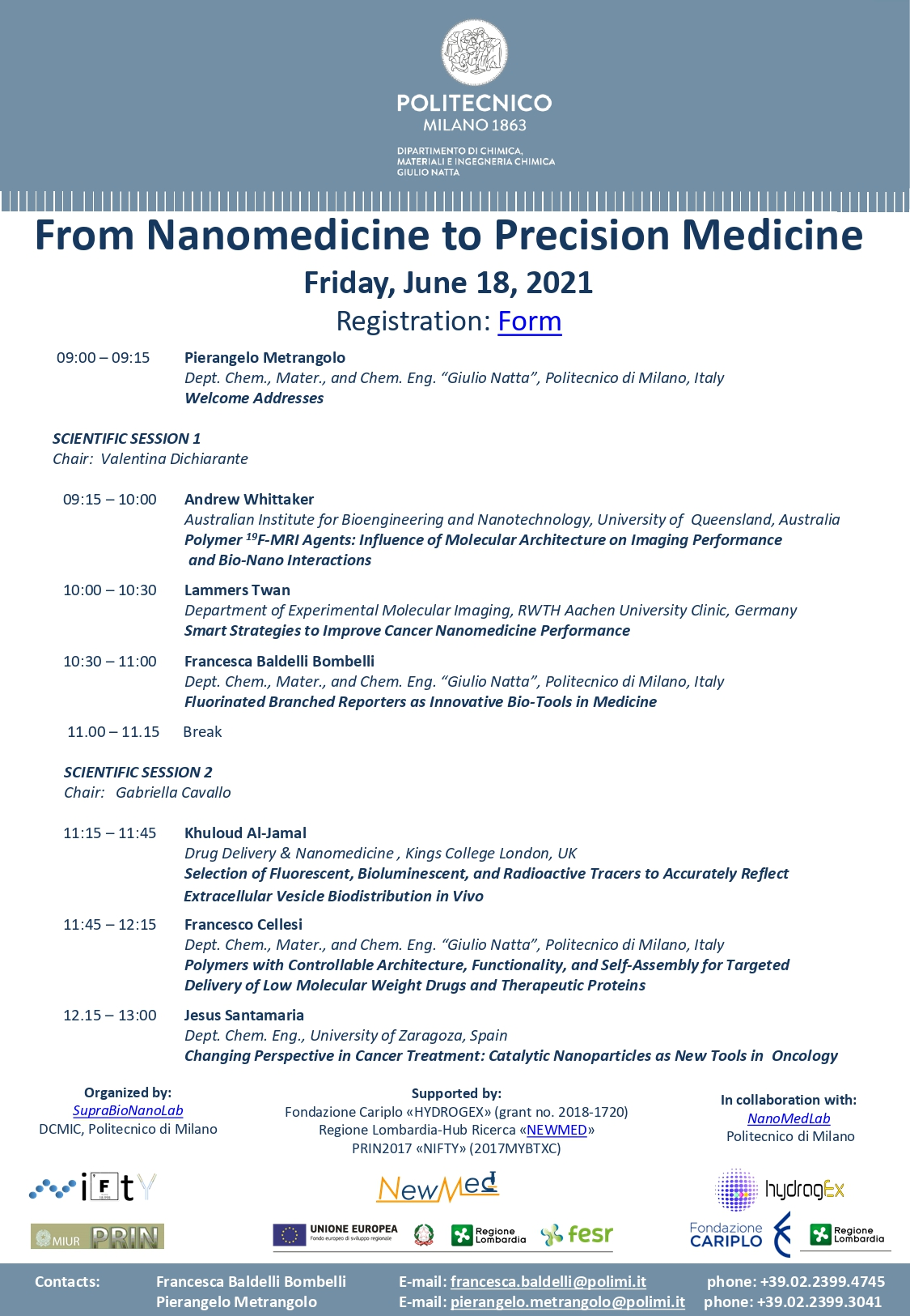 Talk by J. Santamaría: Changing Perspective in Cancer Treatment: Catalytic Nanoparticles as New Tools in Oncology